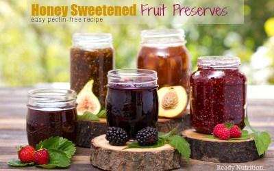 Honey Sweetened Fruit Preserves