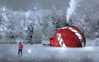 This Eco-Friendly Foldable Dome Home Is The Perfect All-Season Camper