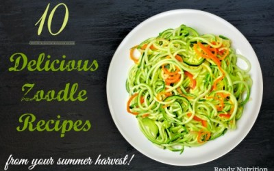 10 Delicious Zoodle Recipes You Can Make From Your Summer Harvest!