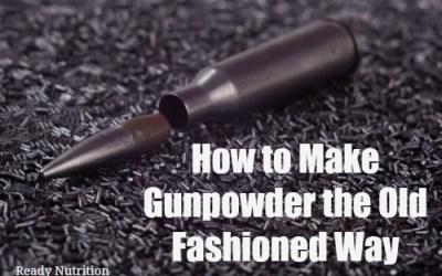 How to Make Gunpowder the Old Fashioned Way