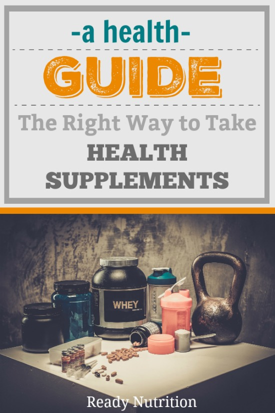 There's a right way and a wrong way with everything. Find out if you are taking your health supplements the right way for optimum health.