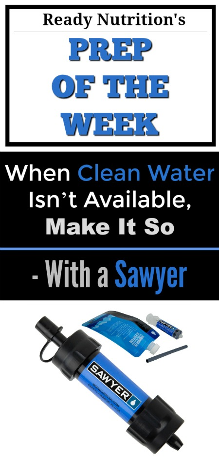 Ready Nutrition - Prep of the Week - Water Preparedness Pin