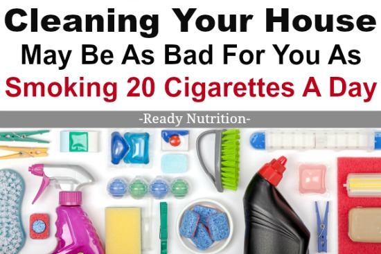 A recent study published in theAmerican Journal of Respiratory and Critical Care Medicineclaims that regularly using house cleaning products could be as bad for yourhealth as smoking a pack of cigarettes a day. Although it's difficult to imagine cleaning could be just as detrimental to one's health as smoking, the research suggests that the chemicals in cleaning products that get inhaled are actually just as bad.