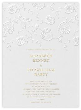 I found this Floral Applique wedding invitation by Oscar de la Renta on Paperless Post and I absolutely love it! It is subtle, but the blind embossing adds a chic touch.