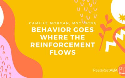 Behavior Goes Where Reinforcement Flows