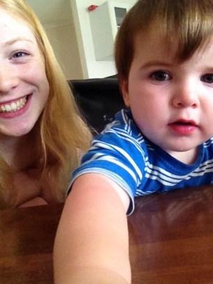 Noah loves my phone!