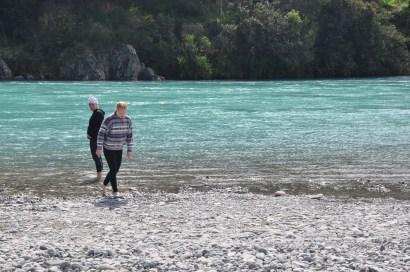 Baden am See - nur Vivi, uns war es zu kalt! (Erinnerung an das kalte Flusswasser in Slowenien!!!)