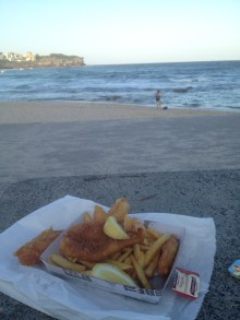 Fish and Chips am Strand- Klassiker!