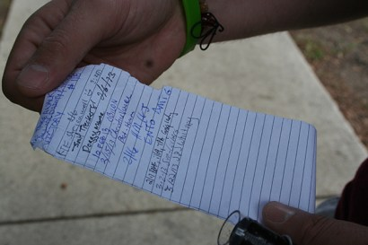 This is a log book. Don't forget to sign it when you find it.