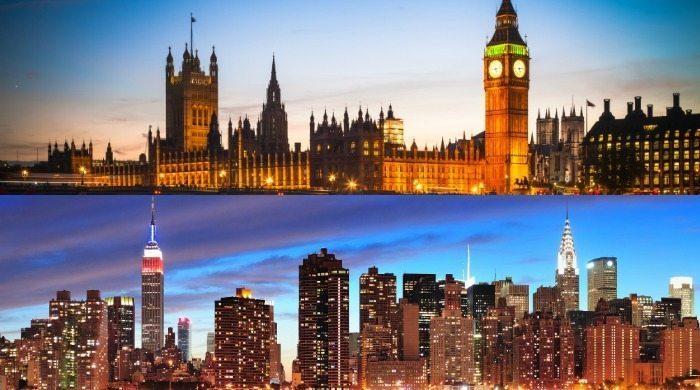 Infographic London VS NYC