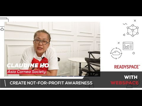 Claudine Ho create not-for-profit awareness with WebSpace