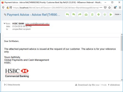 MDaemon Webmail Full Email Header Display