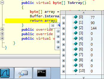 Fist bytes of the decrypted malware.