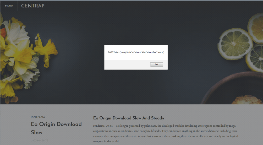 Malicious blog intended to download malware