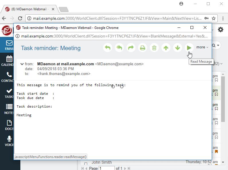 MDaemon Webmail - Text-to-Speech