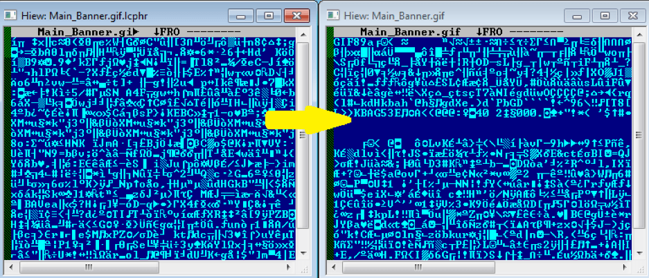 Fig. 7. Successfully decrypting the encrypted file
