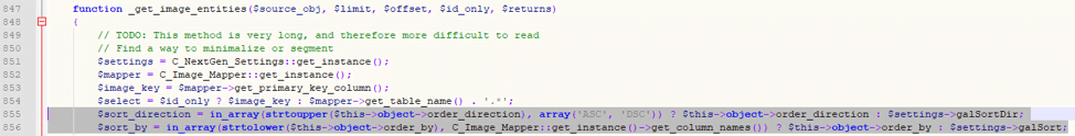 Figure 12: Imagely fixes the issue by whitelisting the sort values.