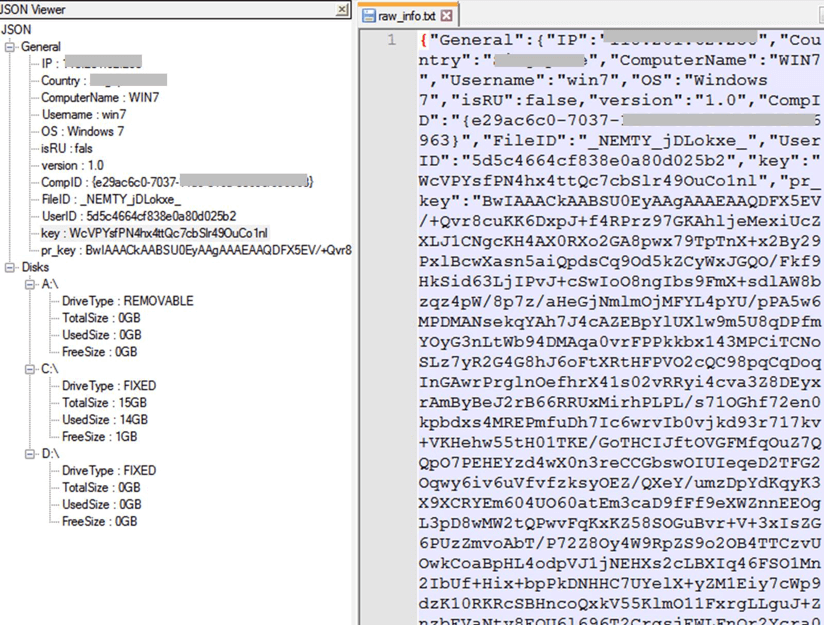 Figure 12. Configuration file in JSON format