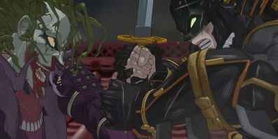 Image result for batman ninja joker batman fight