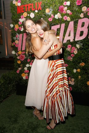 "LOS ANGELES, CA - AUGUST 09: Debby Ryan and Kimmy Shields attend Netflix's ""Insatiable"" Premiere And After Party on August 9, 2018 in Los Angeles, California. (Photo by Rachel Murray/Getty Images for Netflix) *** Local Caption *** Debby Ryan;Kimmy Shields"