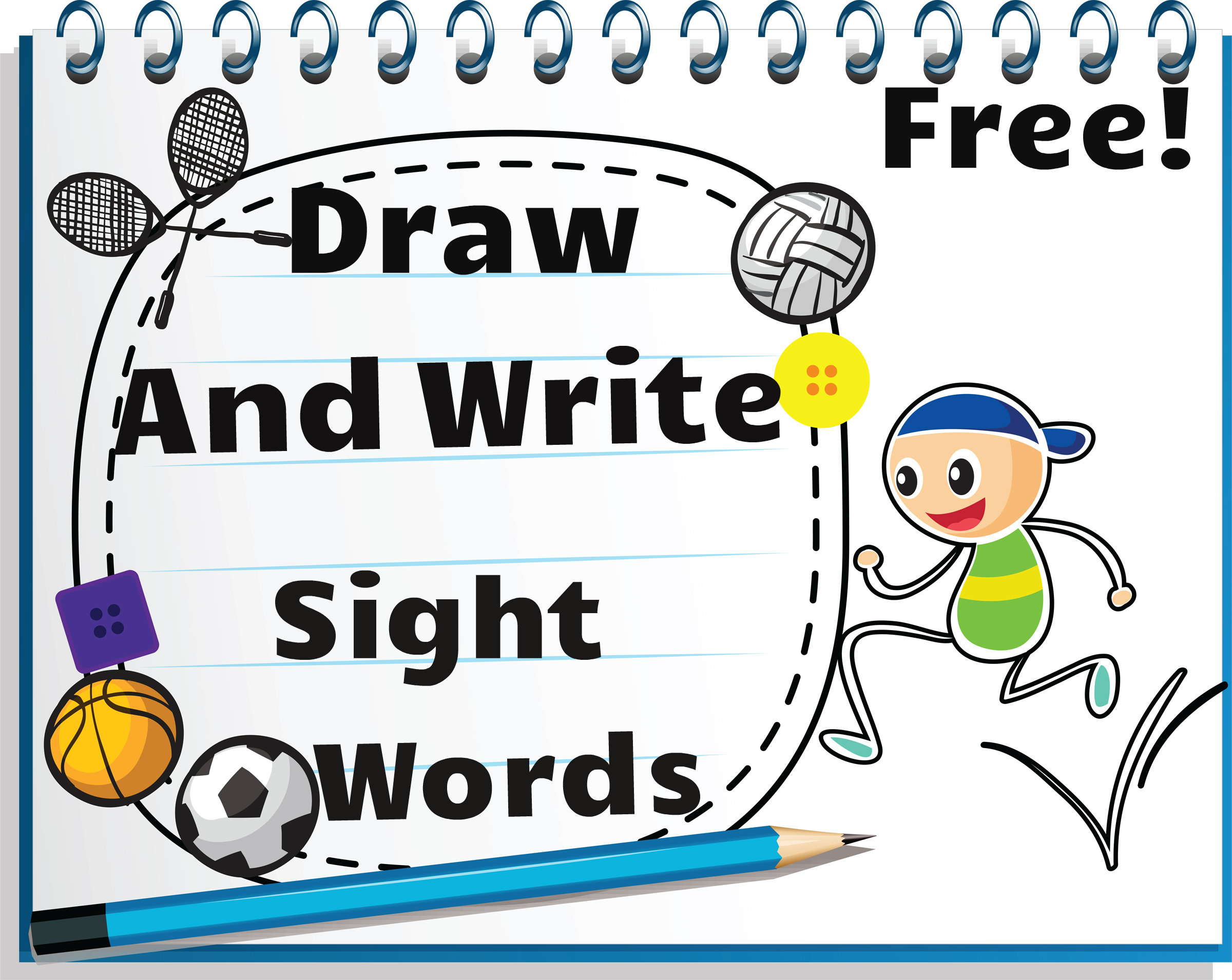 Draw And Write Sight Words Free Sight Word Activities