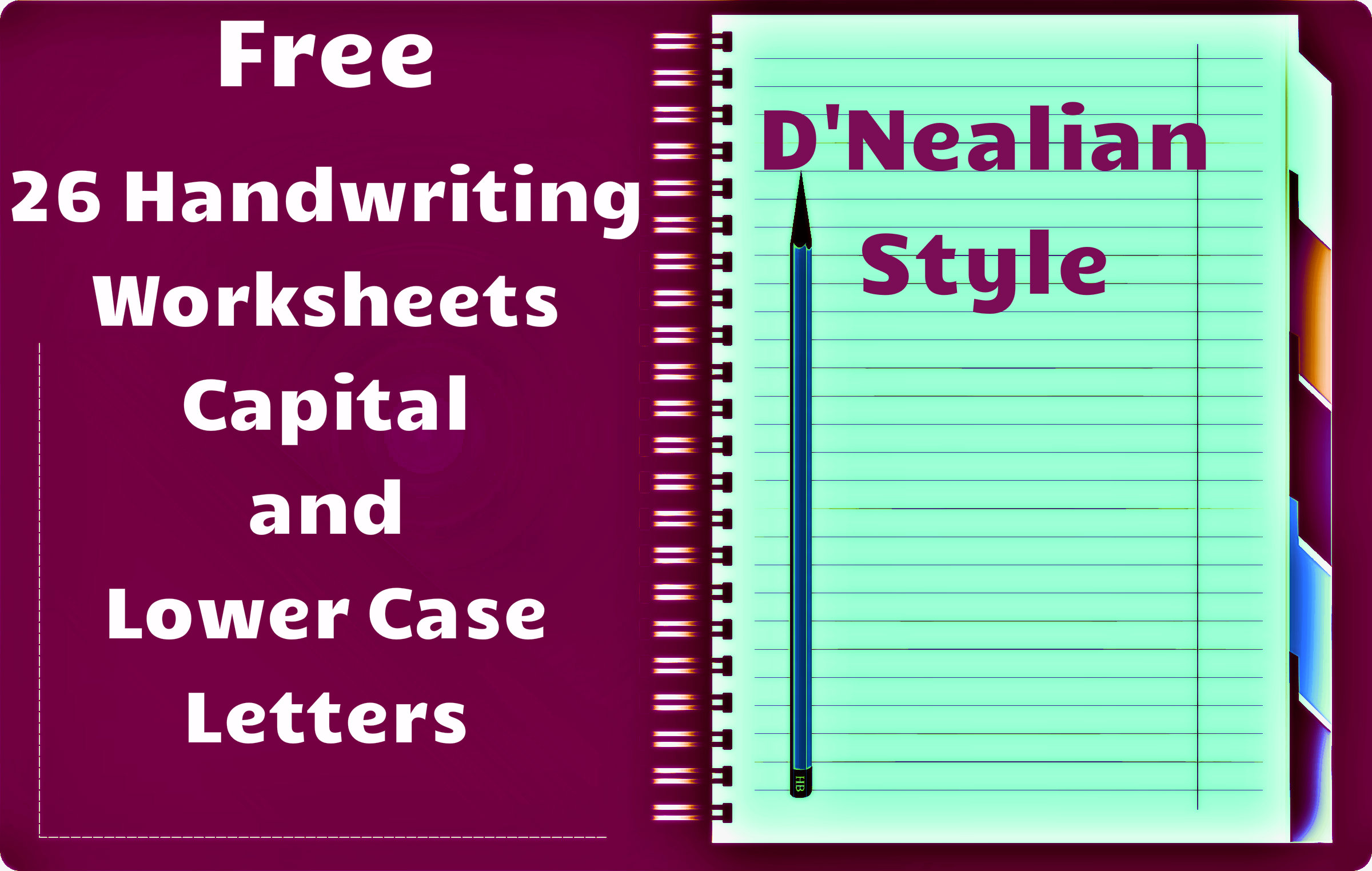 D Nealian Handwriting Worksheet Maker