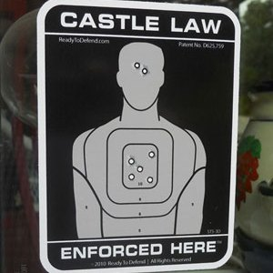 "3-Pack ""Castle Law Enforced Here"" Window Decals - FREE SHIPPING!-0"