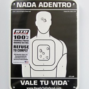 ON SALE! - Super-Tough HDPE Sign - Spanish - NADA ADENTRO VALE TU VIDA™-0