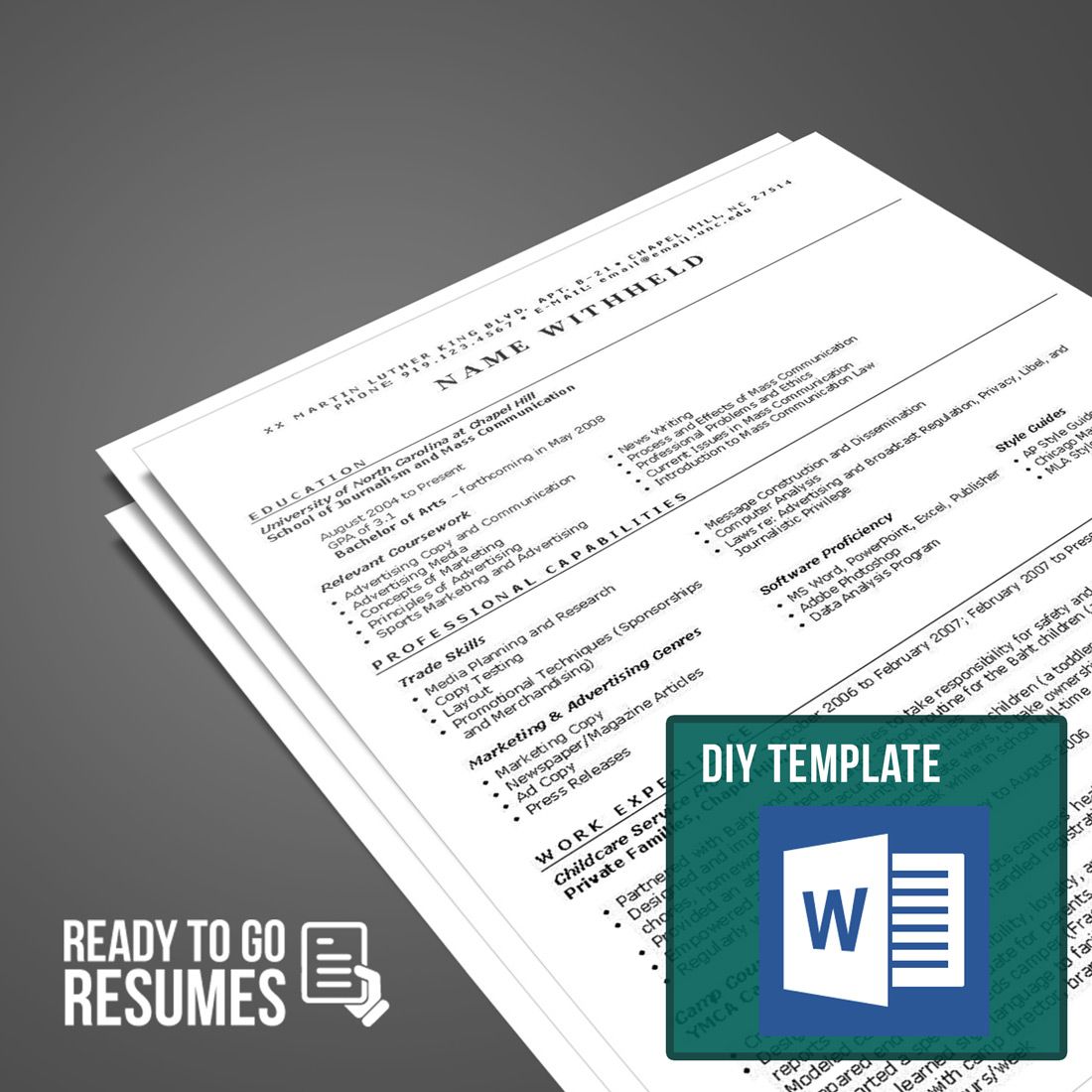 Diy Resume Template Federal Resume Diy Template Ready To Go Resumes