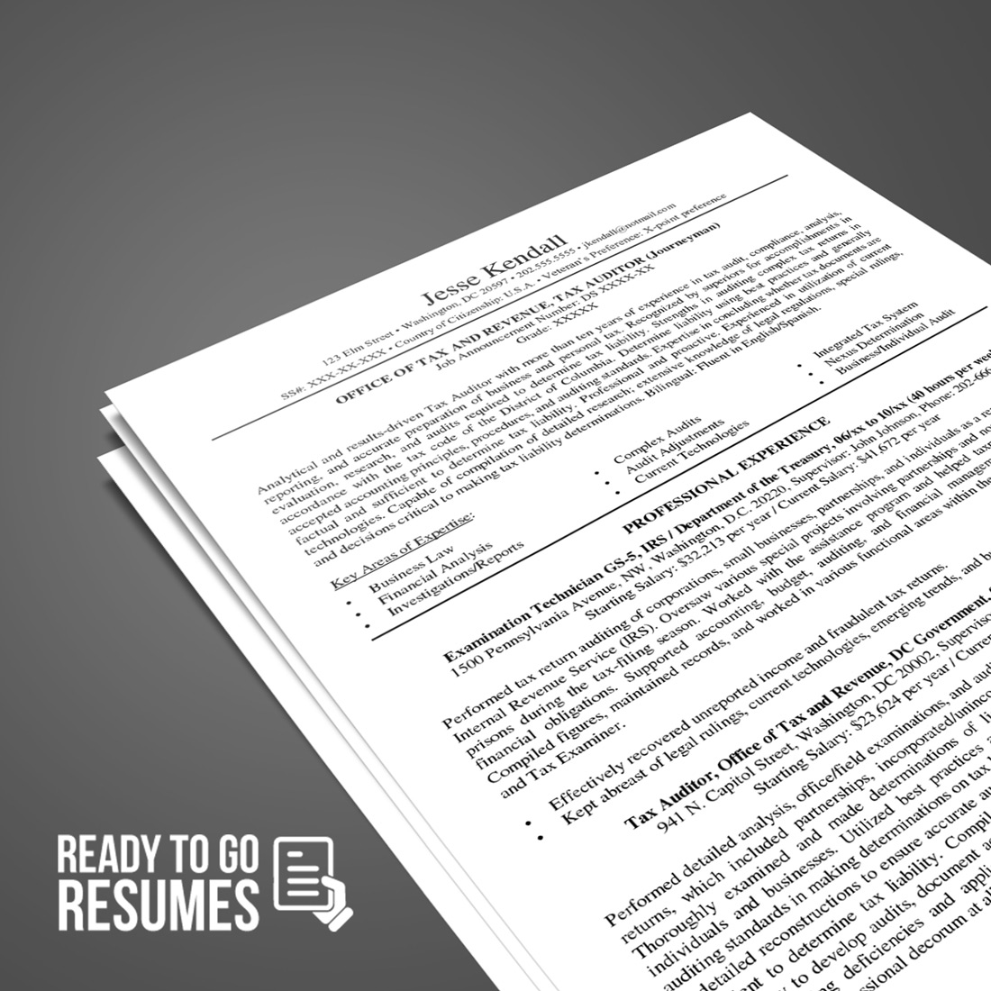Federal Resume Template Order Your Resume Ready To Go Resumes
