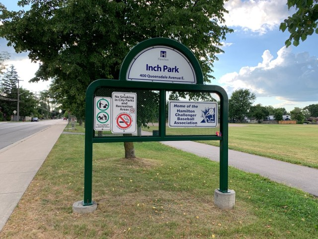 Hamilton Inch Park sign - Recently SOLD Central Hamilton Mountain