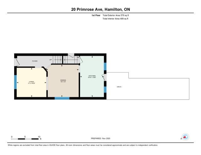 20 Primrose Hamilton Ontario floor plan level1 - Recently SOLD in Crown Point, Hamilton