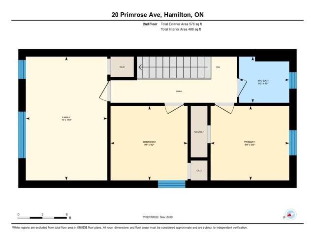 20 Primrose Hamilton Ontario floor plan level2 - Welcome to 20 Primrose Ave, Hamilton