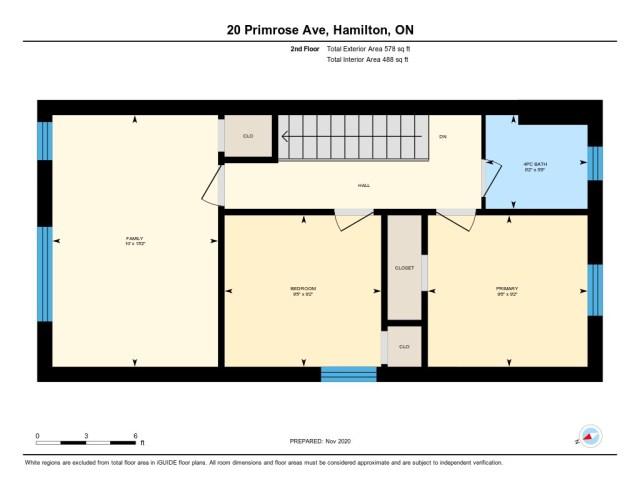 20 Primrose Hamilton Ontario floor plan level2 - Recently SOLD in Crown Point, Hamilton