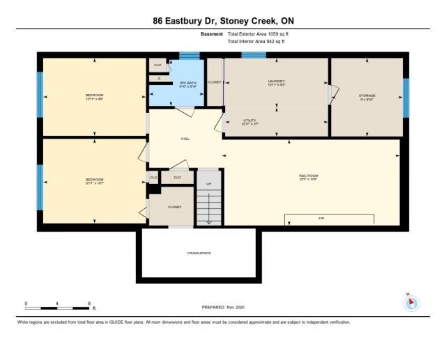 86 Eastbury Stoney Creek floor plan lower level - Recently SOLD in Stoney Creek