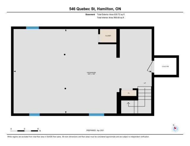 901 546 Quebec Hamilton floor plan basement - 546 Quebec St, Hamilton