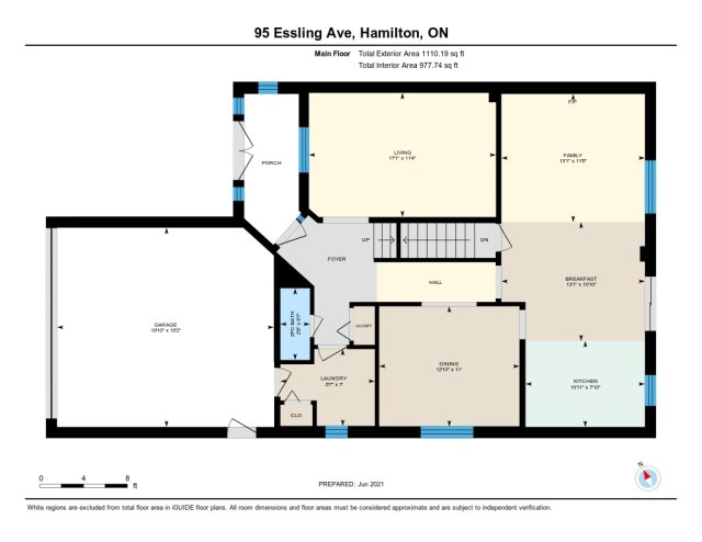 900 95 Essling Hamilton floor plan main level - Recently SOLD on the Hamilton Mountain