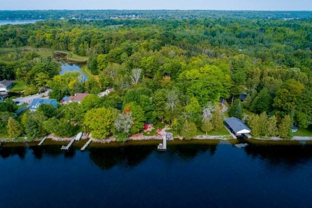 010 26 fire rte 103 bobcaygeon ON aerial3 - WATERFRONT ~ 4 SEASON COTTAGE FOR SALE ON PIGEON LAKE