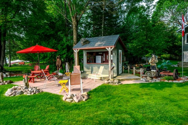 082 26 fire rte 103 bobcaygeon ON shed patio - WATERFRONT ~ 4 SEASON COTTAGE FOR SALE ON PIGEON LAKE