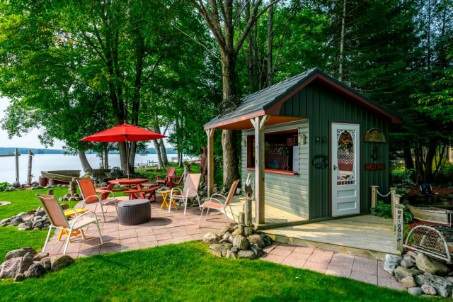 083 26 fire rte 103 bobcaygeon ON shed patio2 - WATERFRONT ~ 4 SEASON COTTAGE FOR SALE ON PIGEON LAKE