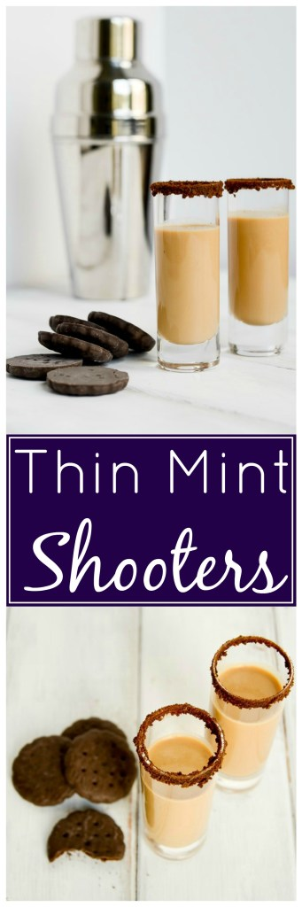 Thin Mint Shooters - It's a cookie and a cocktail, best of both worlds!