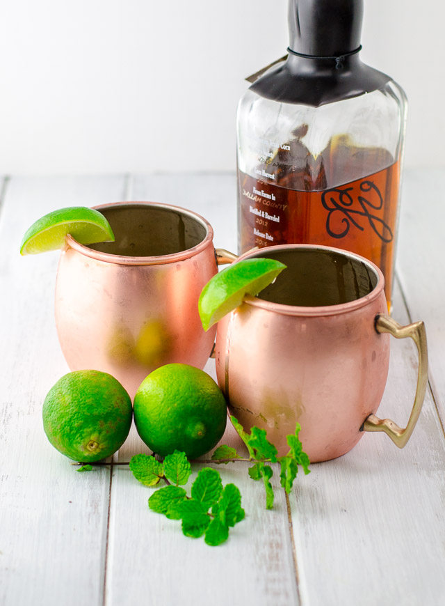 A Kentucky Bourbon Mule combines the best parts of a Moscow mule (tart and spicy juices!) with the depth of bourbon and freshness of mint.