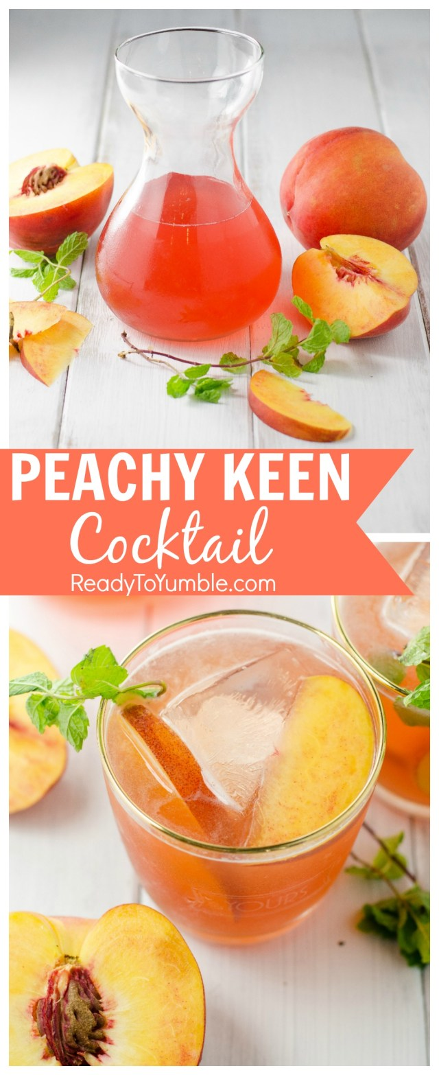 Summers are perfect for a Peach Bourbon Cocktail. An easy simple syrup, a dash of booze, and you'll be feeling Peachy Keen!