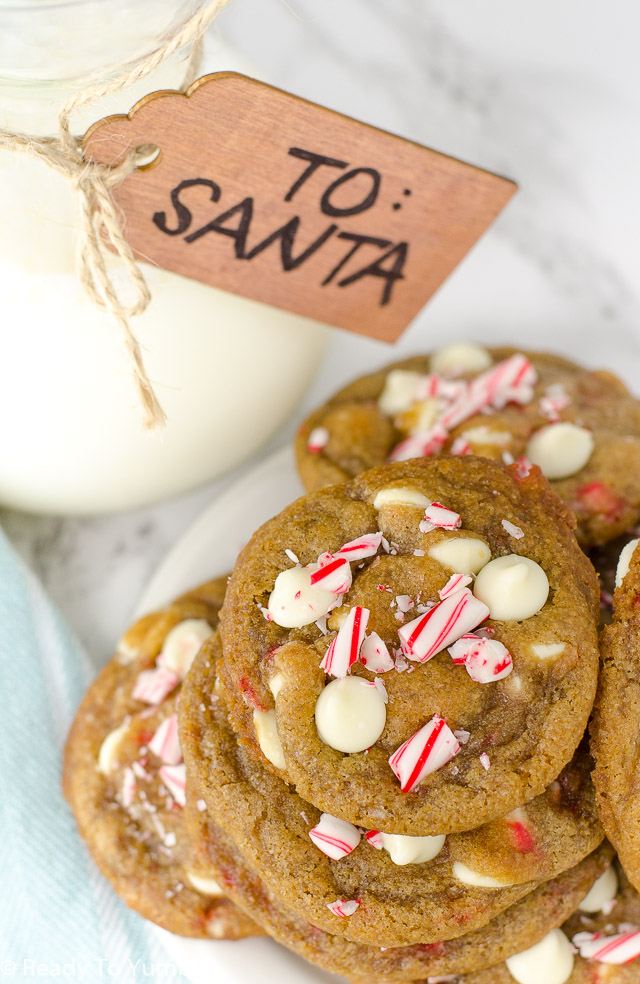Chewy White Chocolate Candy Cane Cookies deserve a spot on your Christmas cookie tray. They're festive, buttery, and Santa approved!
