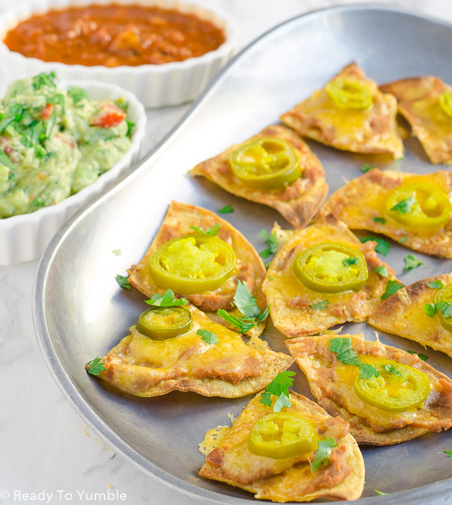 Texas Nachos are your perfect Super Bowl snack! Each chip has just the right amount of cheesy, spicy crunch.
