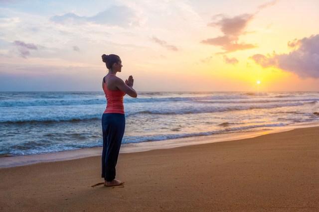Yoga on the Gulf of Mexico Beach