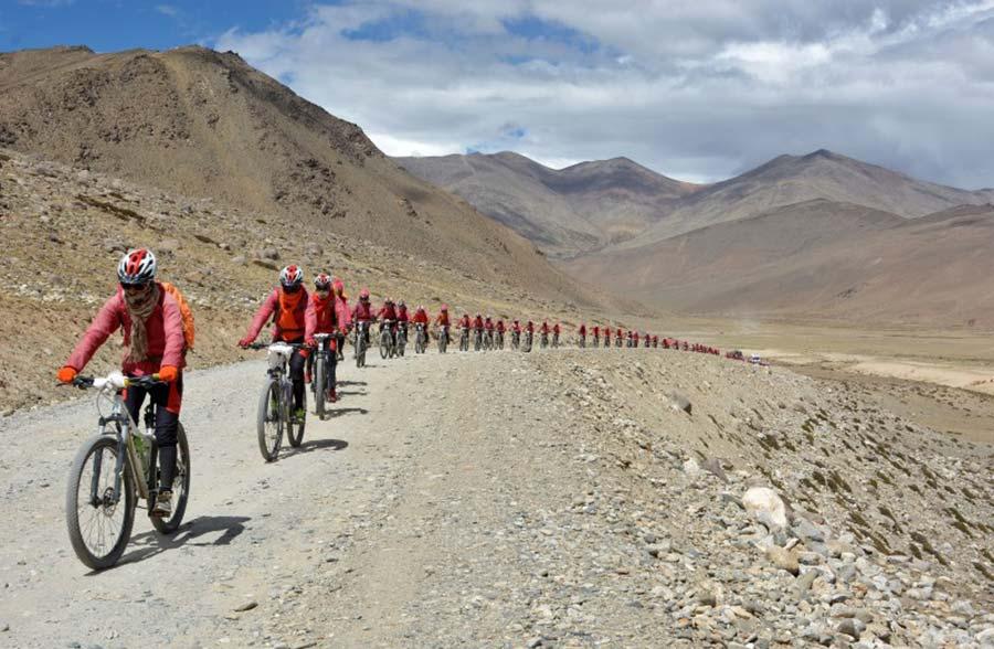 """""""Kung Fu"""" Nuns Bike Himalayas to Oppose Human Trafficking"""