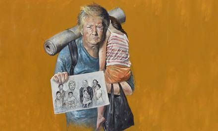 World Leaders Depicted as Refugees