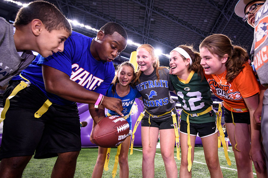The NFL Teams up to Promote Youth Health And Wellness