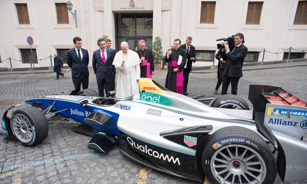 Pope Francis Puts His Faith in Electric Racing Cars